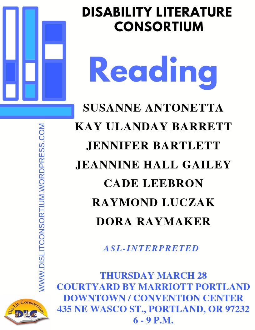 Disability Literature Consortium Reading 3/28